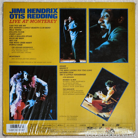 Jimi Hendrix/Otis Redding: Live at Monterey - Laserdisc - Back Cover