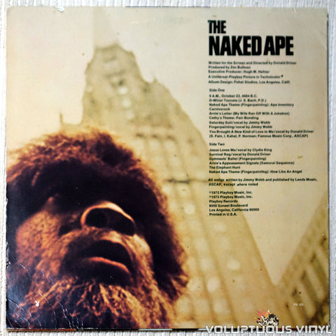 Jimmy Webb The Naked Ape soundtrack vinyl record back cover