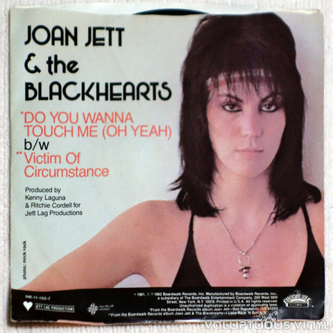 Joan Jett & The Blackhearts ‎– Do You Wanna Touch Me (Oh Yeah) - Vinyl Record - Back Cover