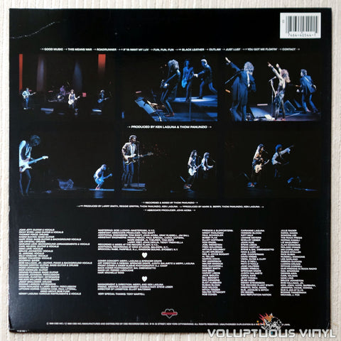 Joan Jett And The Blackhearts ‎– Good Music - Vinyl Record - Back Cover