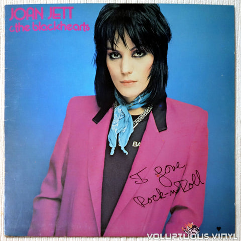 Joan Jett & The Blackhearts ‎– I Love Rock 'N Roll vinyl record front cover