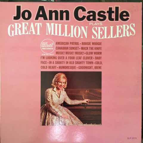 Jo Ann Castle ‎– Jo Ann Castle Plays Great Million Sellers (1964) Cheap Vinyl Record
