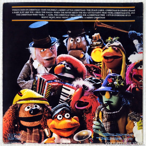 John Denver And The Muppets ‎– A Christmas Together vinyl record back cover