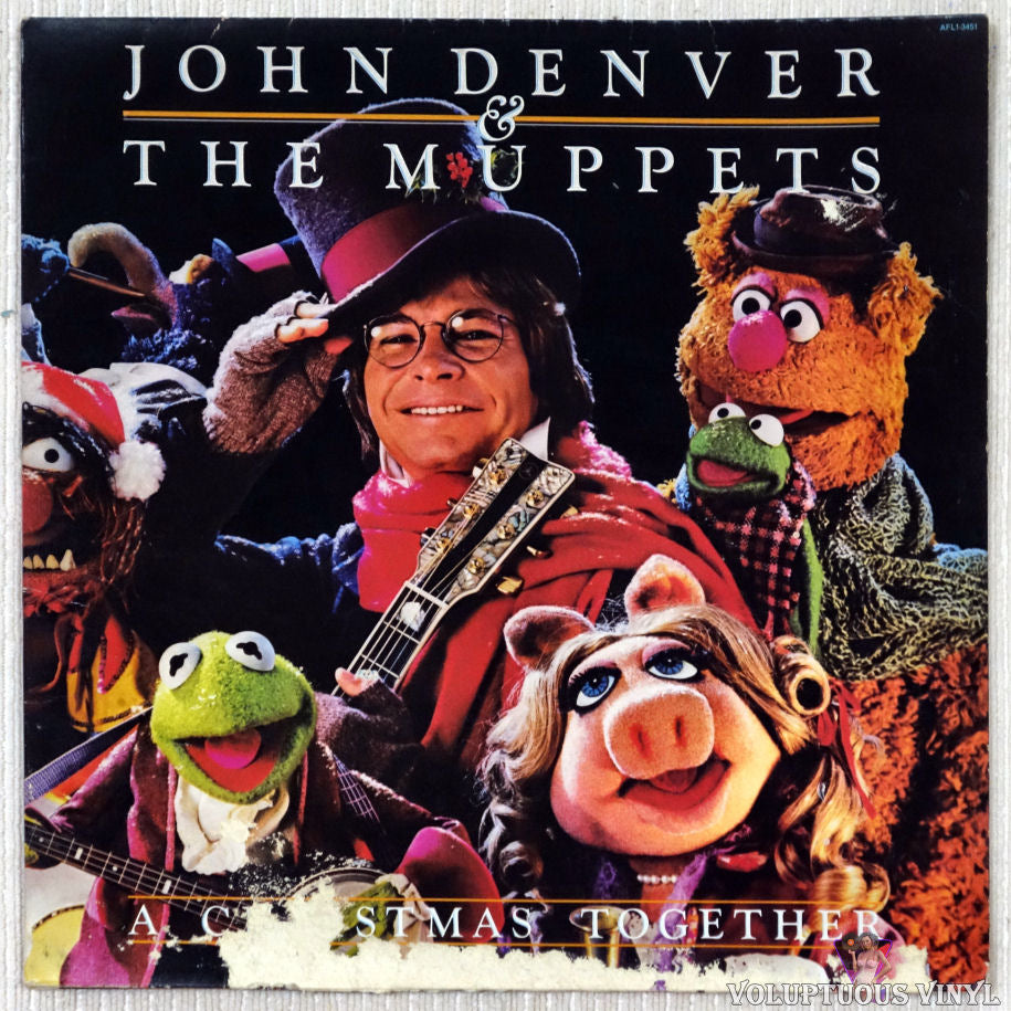 John Denver And The Muppets ‎– A Christmas Together vinyl record front cover