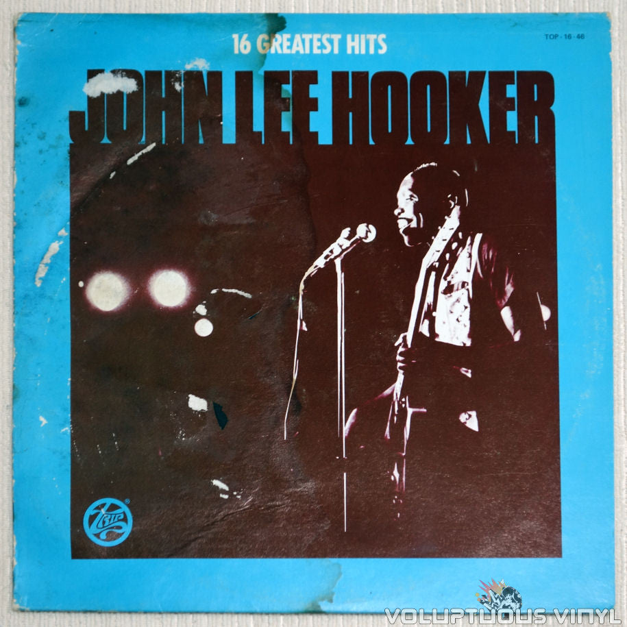 John Lee Hooker ‎– 16 Greatest Hits - Vinyl Record - Front Cover