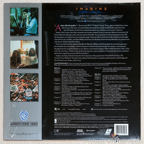 John Lennon: Imagine - The Definitive Film Portrait - Laserdisc - Back Cover