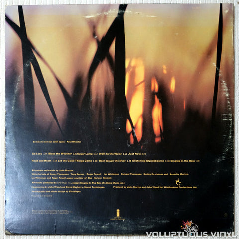 John Martyn ‎– Bless The Weather - Vinyl Record - Back Cover