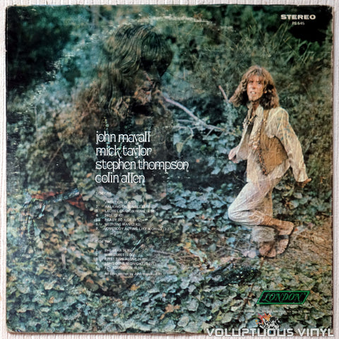 John Mayall ‎– Blues From Laurel Canyon vinyl record back cover
