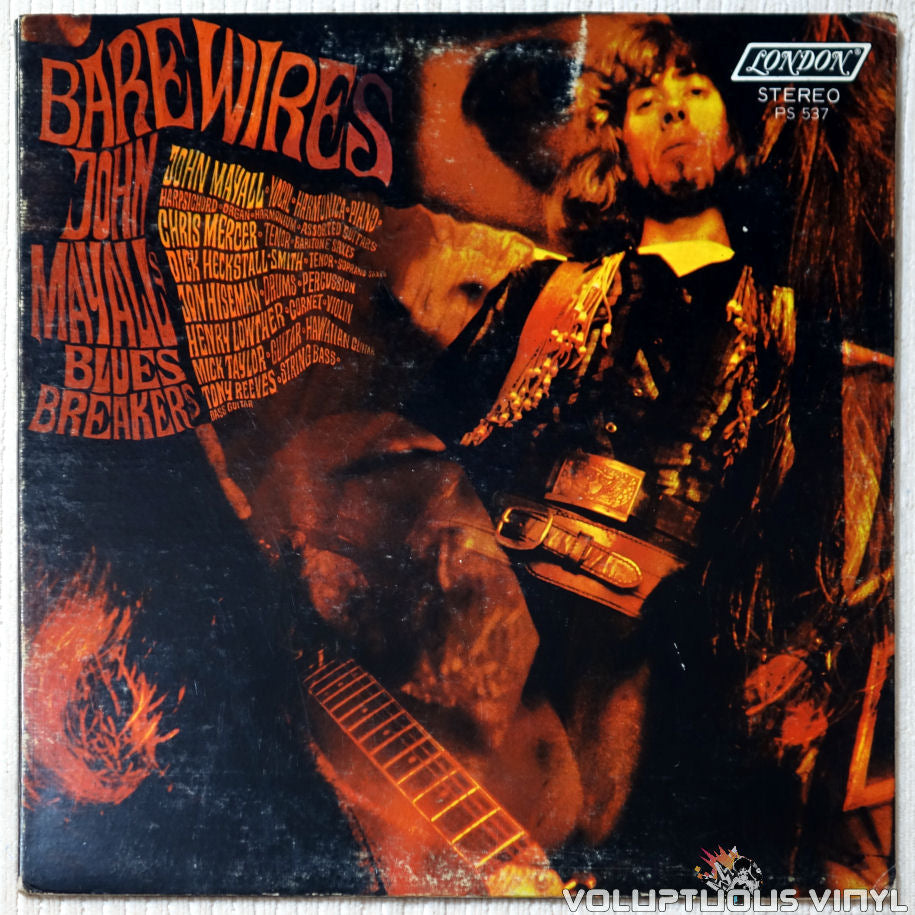 John Mayall's Bluesbreakers ‎– Bare Wires vinyl record front cover