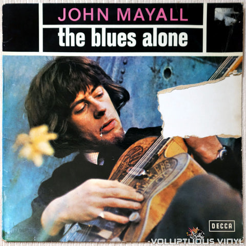 John Mayall ‎– The Blues Alone vinyl record front cover