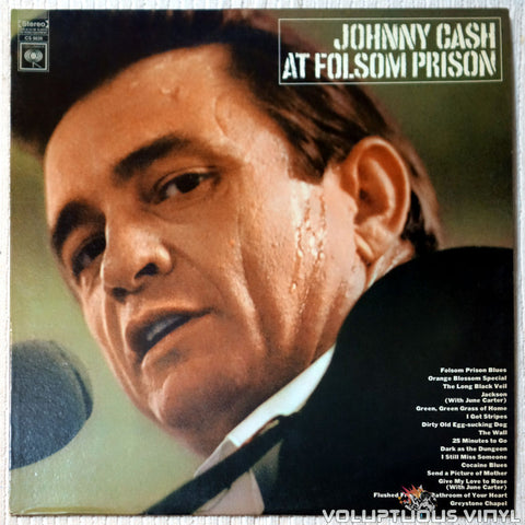 Johnny Cash ‎– At Folsom Prison - Vinyl Record - Front Cover