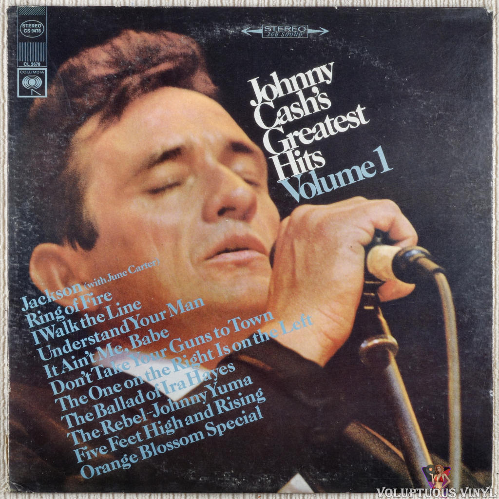 Johnny Cash ‎– Greatest Hits Volume 1 vinyl record front cover