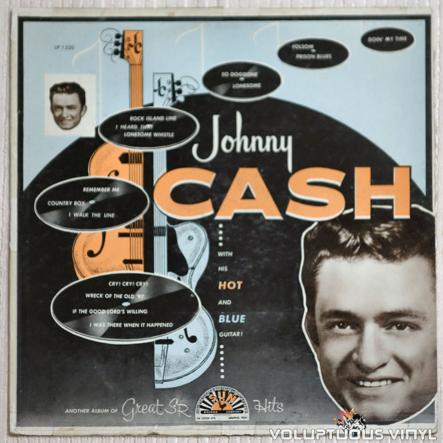 Johnny Cash ‎– With His Hot And Blue Guitar - Vinyl Record - Front Cover