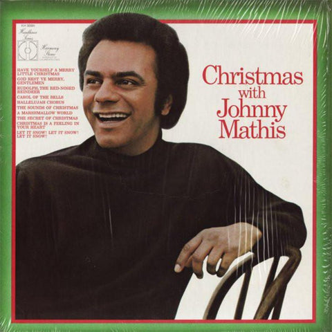 Johnny Mathis ‎– Christmas With Johnny Mathis vinyl record front cover