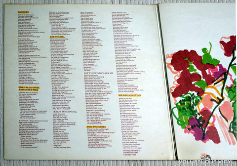Joni Mitchell ‎– For The Roses - Vinyl Record - Inner Gatefold