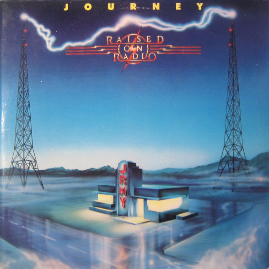Journey ‎– Raised On Radio - Vinyl Record - Front Cover