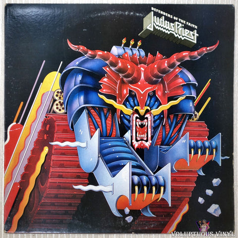 Judas Priest ‎– Defenders Of The Faith vinyl record front cover