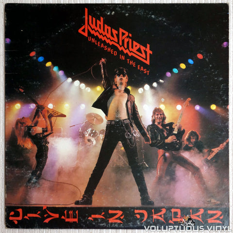 Judas Priest ‎– Unleashed In The East (Live In Japan) - Vinyl Record - Front Cover
