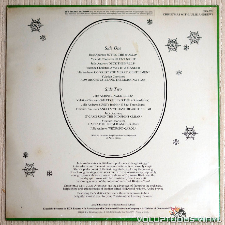 Julie Andrews & The Yuletide Choristers – Christmas With Julie ...