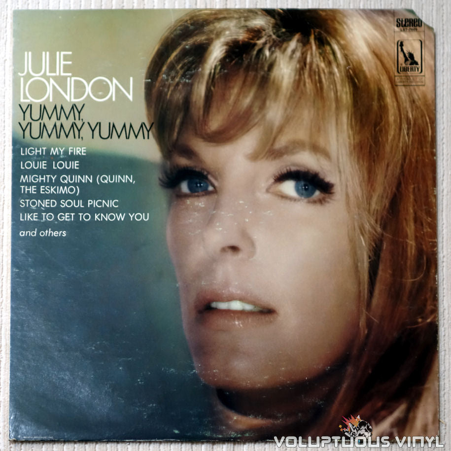 Julie London ‎– Yummy, Yummy, Yummy - Vinyl Record - Front Cover