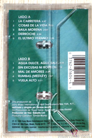 Julio Iglesias ‎– La Carretera cassette tape back cover