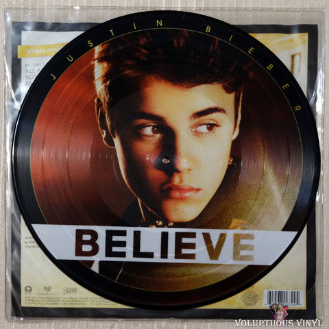 Justin Bieber ‎– Believe vinyl record picture disc