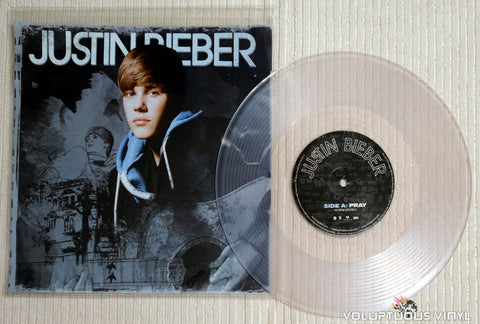 Justin Bieber ‎– Pray / Never Say Never - Vinyl Record - Clear Vinyl