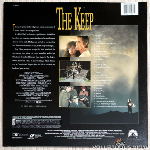 The Keep - LaserDisc - Back Cover