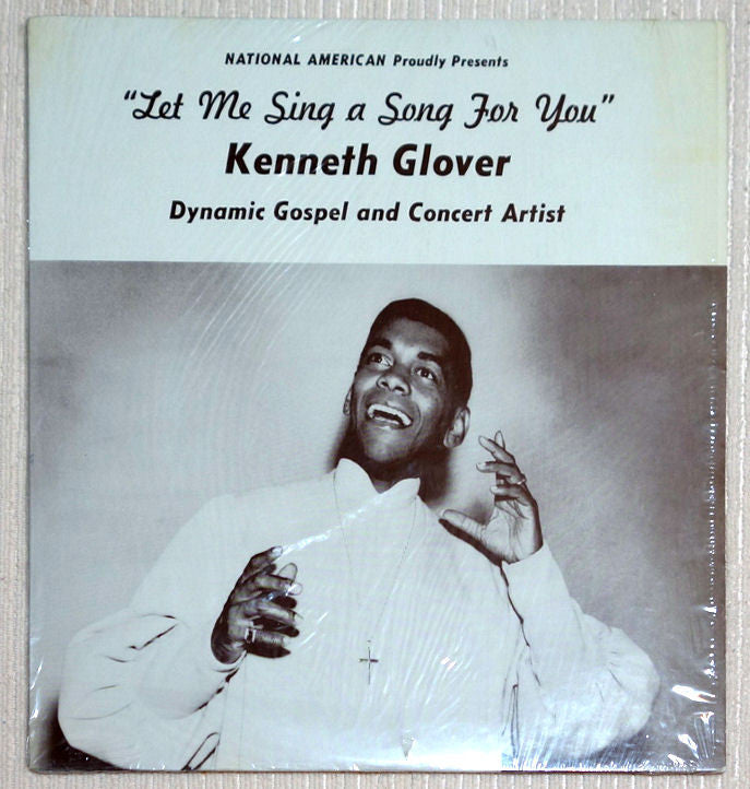 Kenneth Glover  Let Me Sing A Song For You Vinyl Record Front Cover