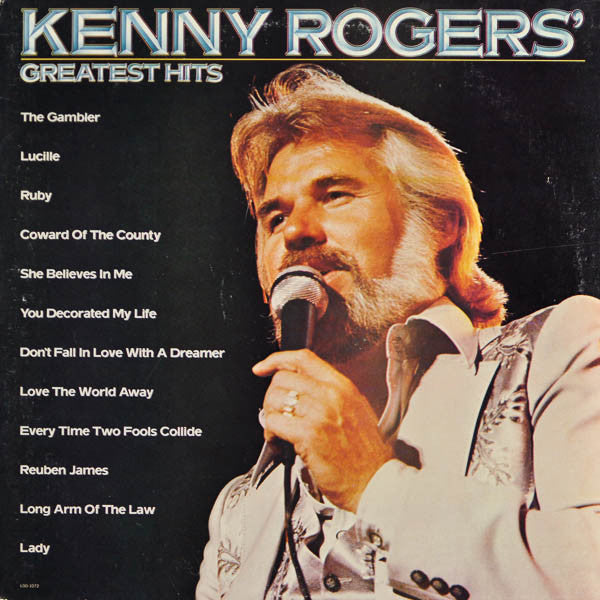 Kenny Rogers ‎– Greatest Hits vinyl record front cover