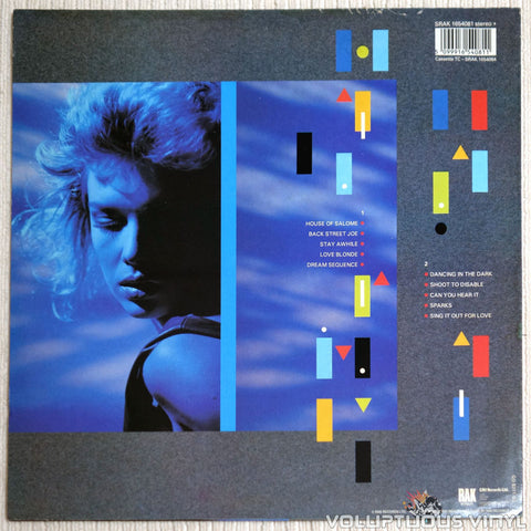 Kim Wilde ‎– Catch As Catch Can - Vinyl Record - Back Cover
