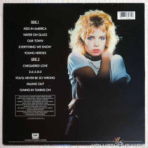 Kim Wilde ‎– Kim Wilde - Vinyl Record - Back  Cover