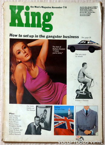 King - November 1966 - Barbara Bouchet Cover & Steamy Pictorial