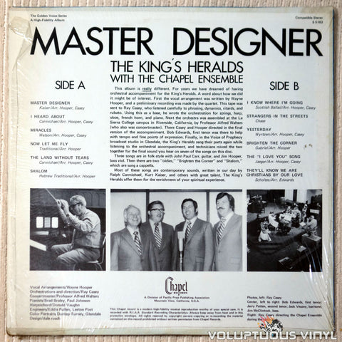 The King's Heralds ‎– Master Designer vinyl record back cover