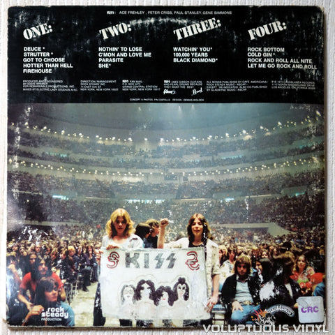 Kiss ‎– Alive! - Vinyl Record - Back Cover