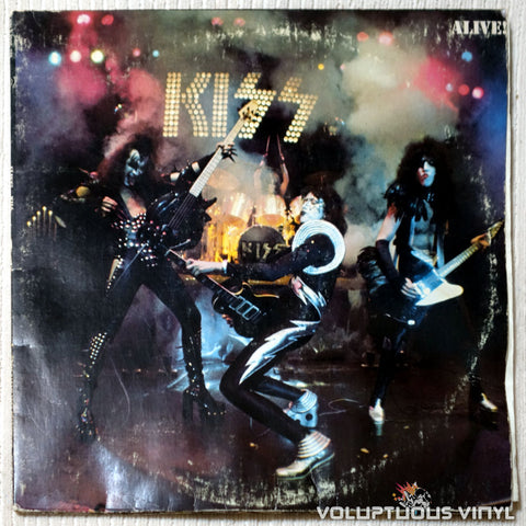 Kiss ‎– Alive! - Vinyl Record - Front Cover