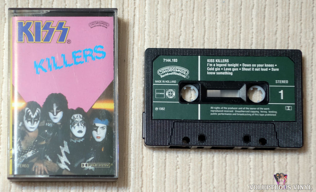 Kiss ‎– Killers cassette tape