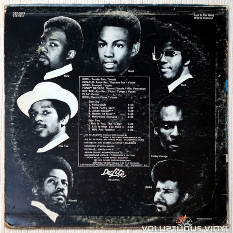 Kool & The Gang ‎– Wild And Peaceful vinyl record back cover