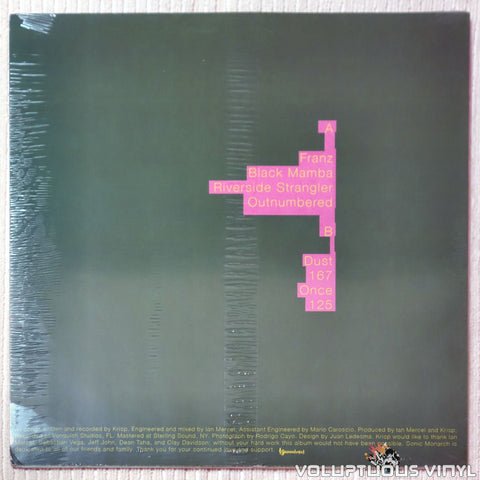 Krisp ‎– Sonic Monarch vinyl record back cover