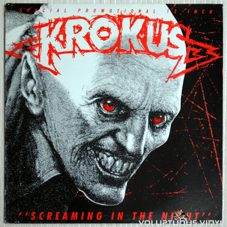 Krokus ‎– Screaming In The Night - Vinyl Record - Front Cover