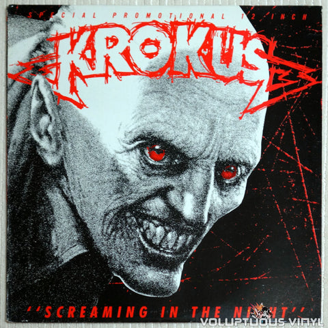 "Krokus ‎– Screaming In The Night (1983) PROMO 12"" Single"