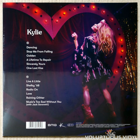 Kylie Minogue ‎– Golden - Vinyl Record - Back Cover