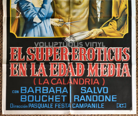 La calandria 1972 Argentinean 1-Sheet Barbara Bouchet Movie Poster Bottom Half
