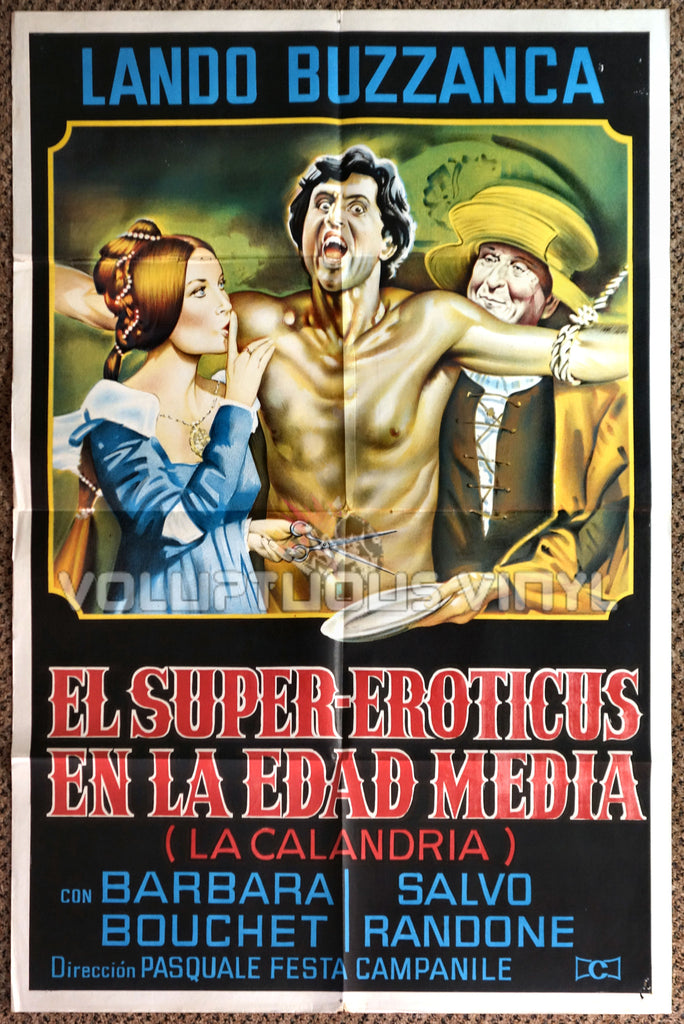 La calandria 1972 Argentinean 1-Sheet Barbara Bouchet Movie Poster
