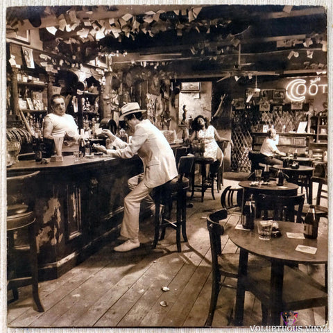 Led Zeppelin ‎– In Through The Out Door vinyl record back cover