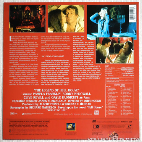 The Legend of Hell House - Laserdisc - Back Cover