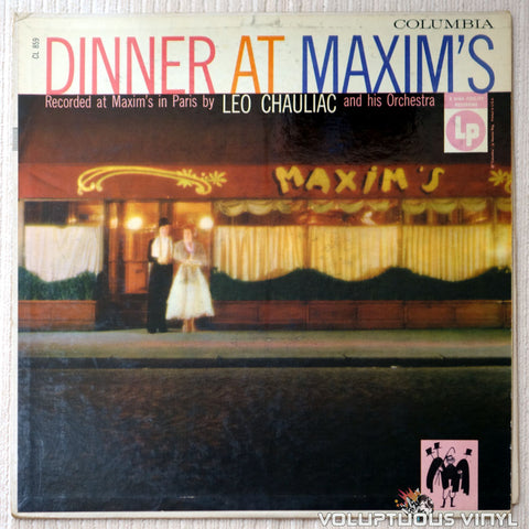 Leo Chauliac And His Orchestra ‎– Dinner At Maxim's - Vinyl Record - Front Cover