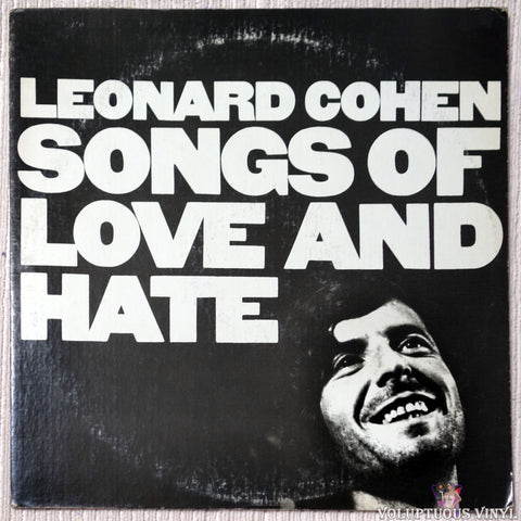 Leonard Cohen ‎– Songs Of Love And Hate - Vinyl Record - Front Cover