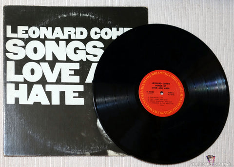 Leonard Cohen ‎– Songs Of Love And Hate vinyl record
