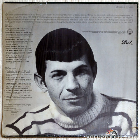 Leonard Nimoy ‎– The Two Sides Of Leonard Nimoy - Vinyl Record - Back Cover
